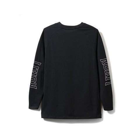 Flames LS Tee - Black