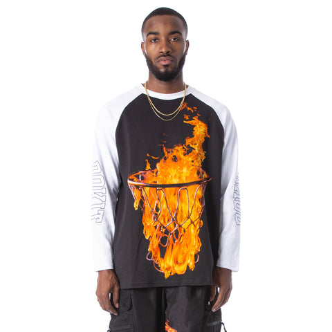 Flames LS Tee - White