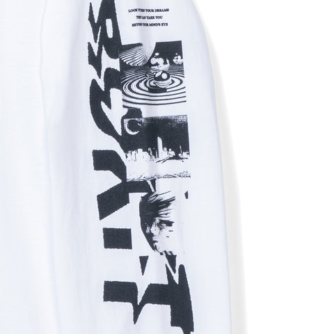 Minds Eye LS Tee - White