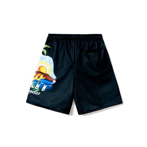 Rokit Airbrush Bball Shorts - Black