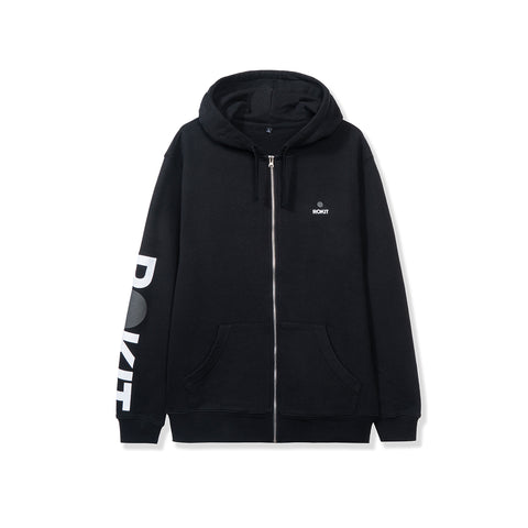 ROKIT Core Zip Up Hoodie - Black