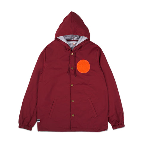 WARMUP Coach Jacket - Cranberry