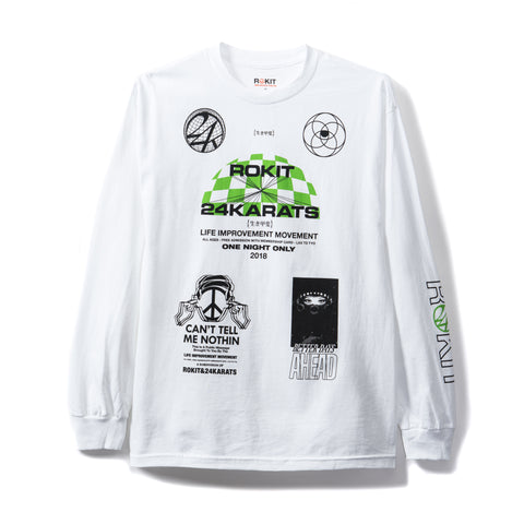 Rokit Gods Long Sleeve Shirt - White