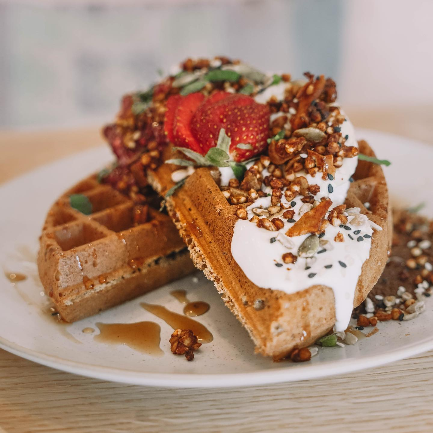 Buckwheat Waffles Full