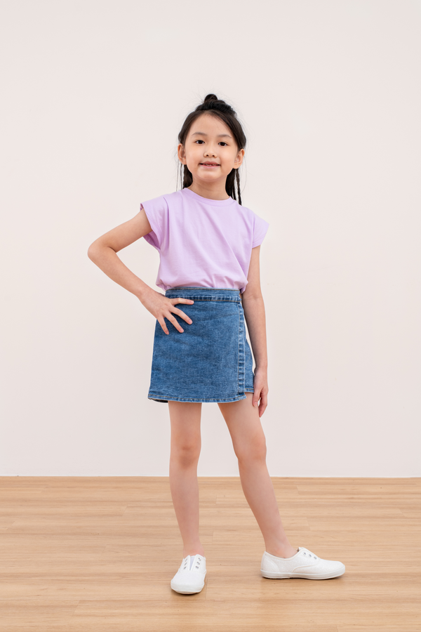 Kiddy Colour Pop Tee in Lilac