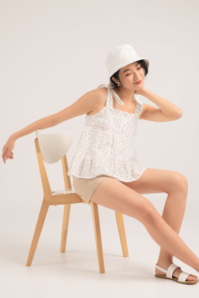 Ines Embroidery Babydoll Top