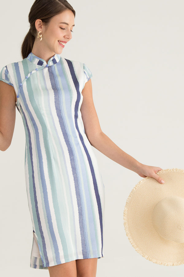 Mimika Striped Printed Dress