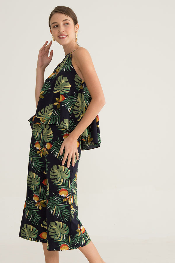 Leandra Tropical Printed Culottes