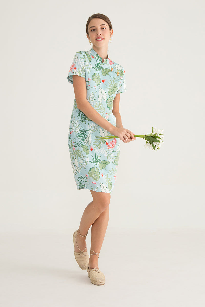 Brella Tropical Printed Dress