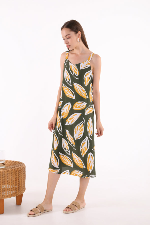 Mirley Side Button Midi Dress