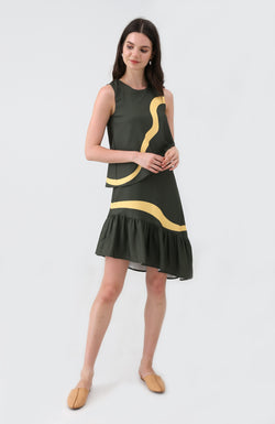 Abby Dropwaist Layered Dress