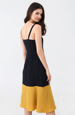 Mirta Colour Block Midi Dress