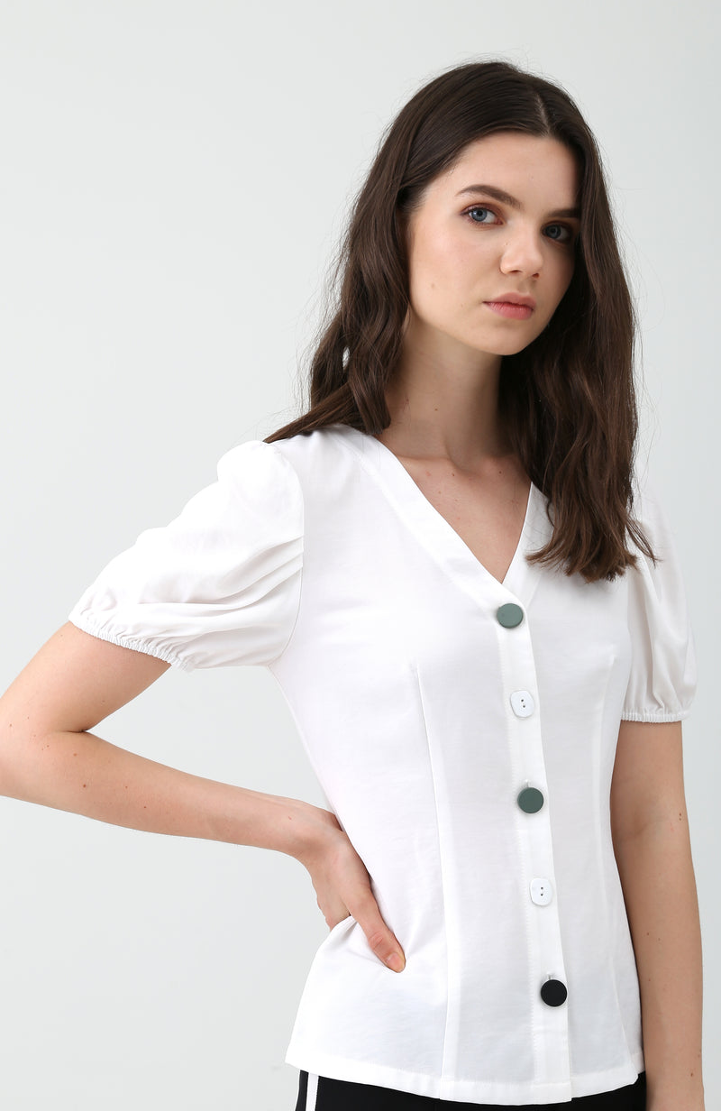 Hali Buttondown Top