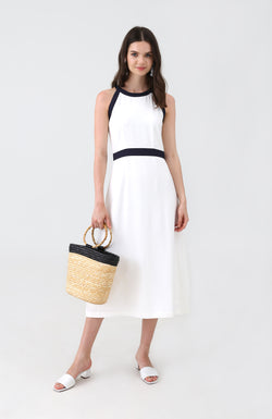 Attic Halter Neck Midi Dress