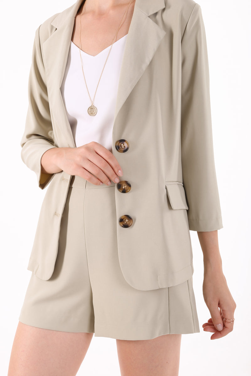 Neia Buttoned Front Blazer