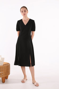Tara Puff Sleeve Midi Dress