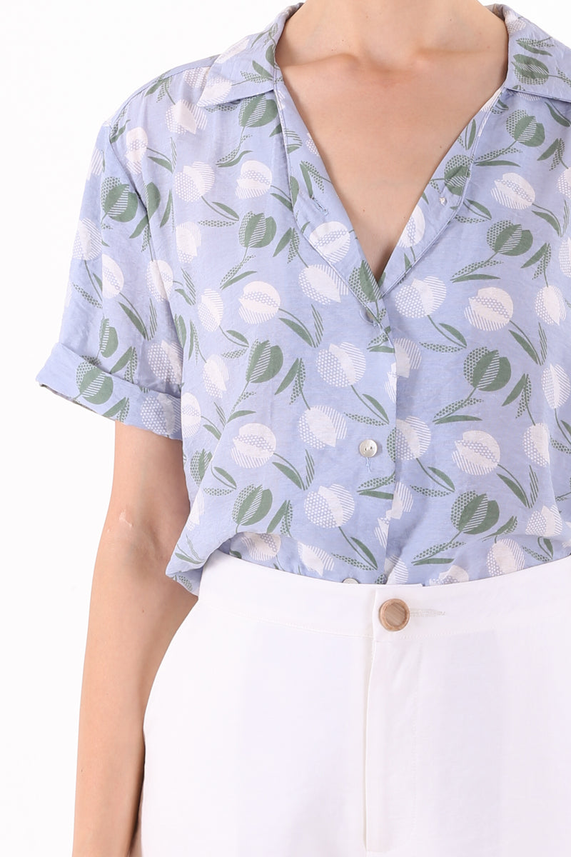 Fior Printed Buttoned Shirt