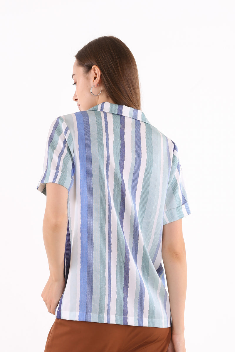 Tati Printed Striped Shirt