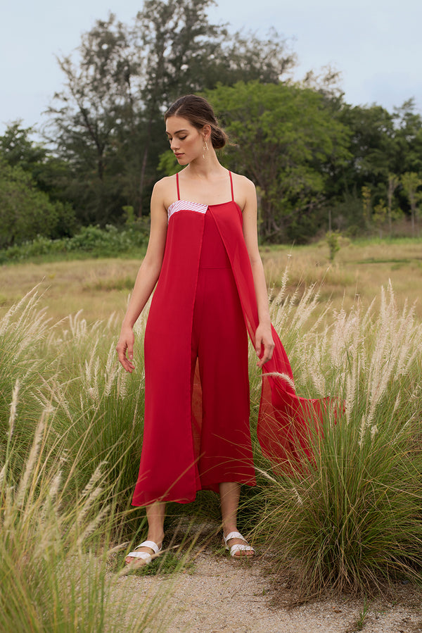 Aimy Luxe Overlay Jumpsuit
