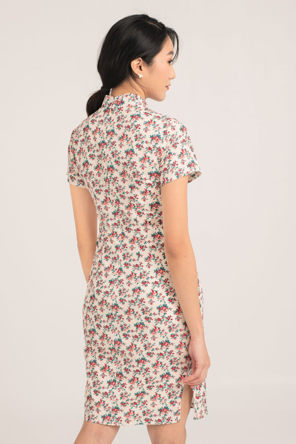 [Online Exclusive] Aida Floral Printed Cheongsam