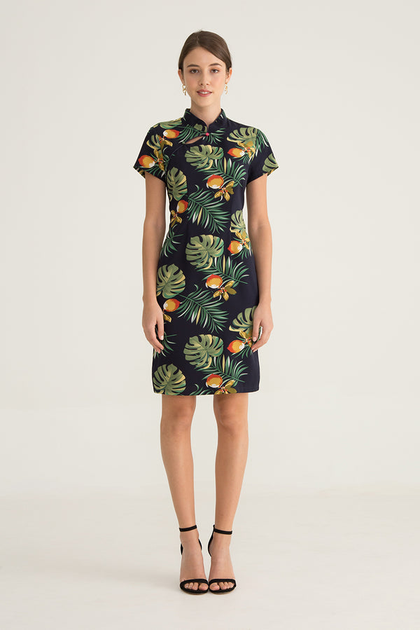 Leandra Tropical Printed Dress