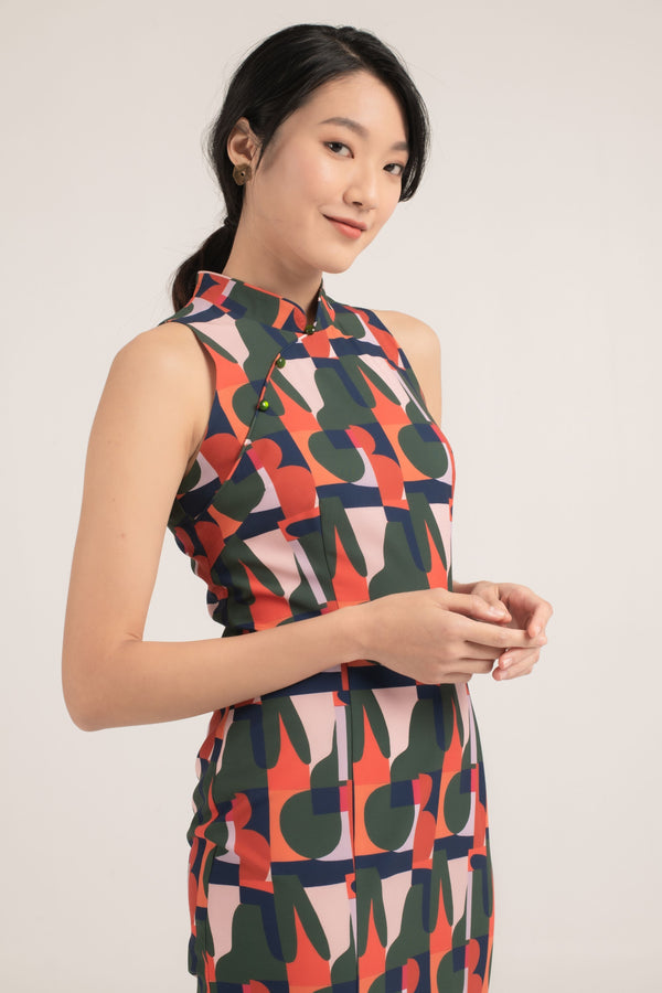 [Online Exclusive] Alejandra Printed Cheongsam
