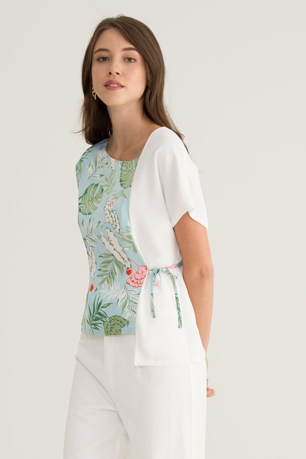 Mellie Boat Neck Floral Top