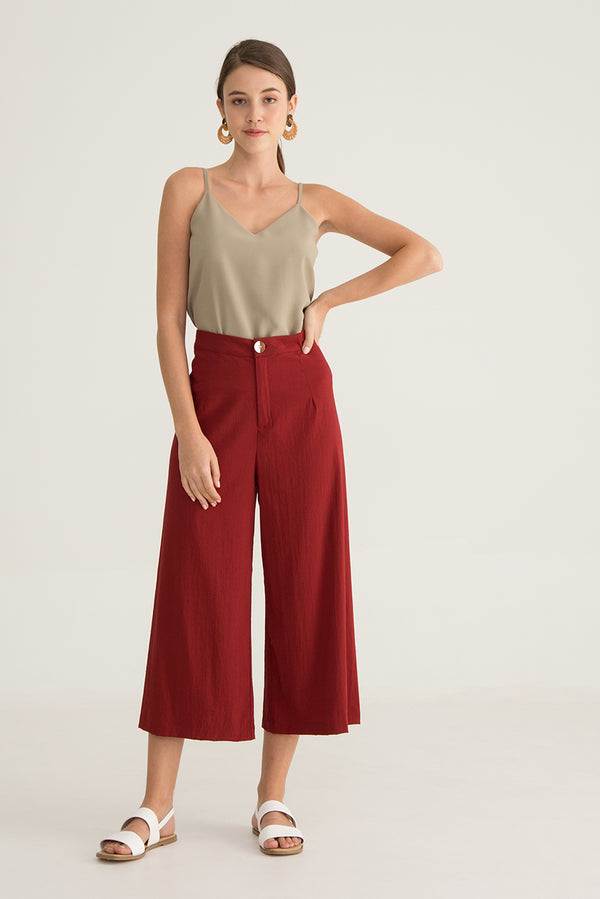 Aere Tailored High Waisted Culottes