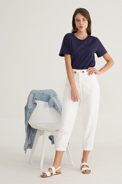Amor Tortoise Shell Buttoned Trousers