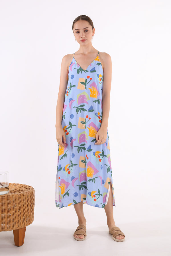 Kayee Printed Maxi Slip Dress