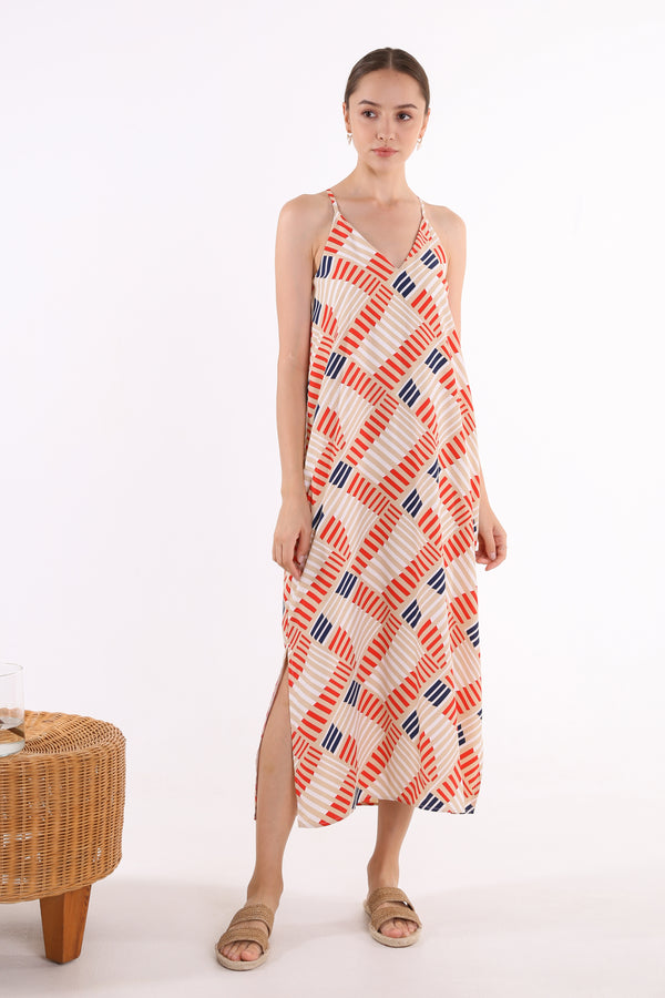 Serene Printed Maxi Slip Dress