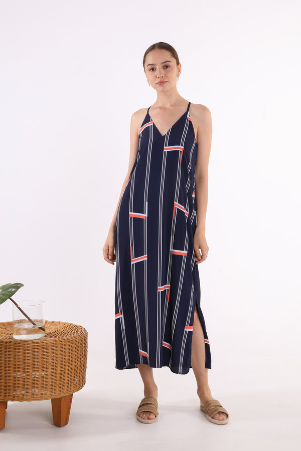 Samantha Printed Maxi Slip Dress