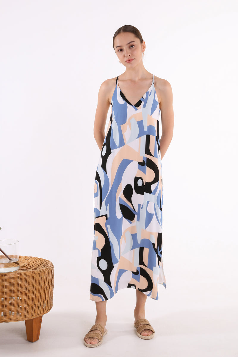 Syah Printed Maxi Slip Dress