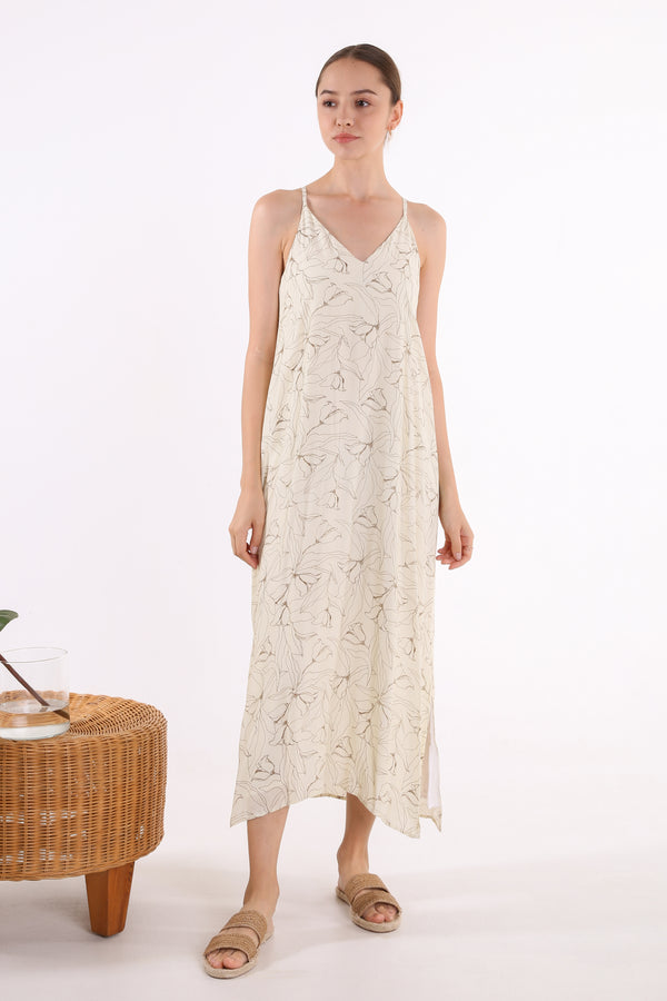 Grace Printed Maxi Slip Dress