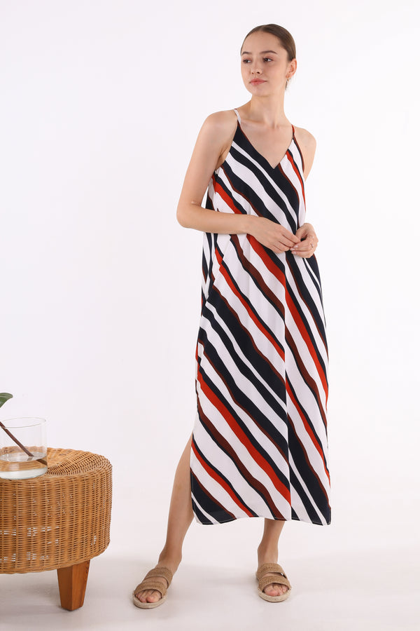 Wandy Printed Maxi Slip Dress