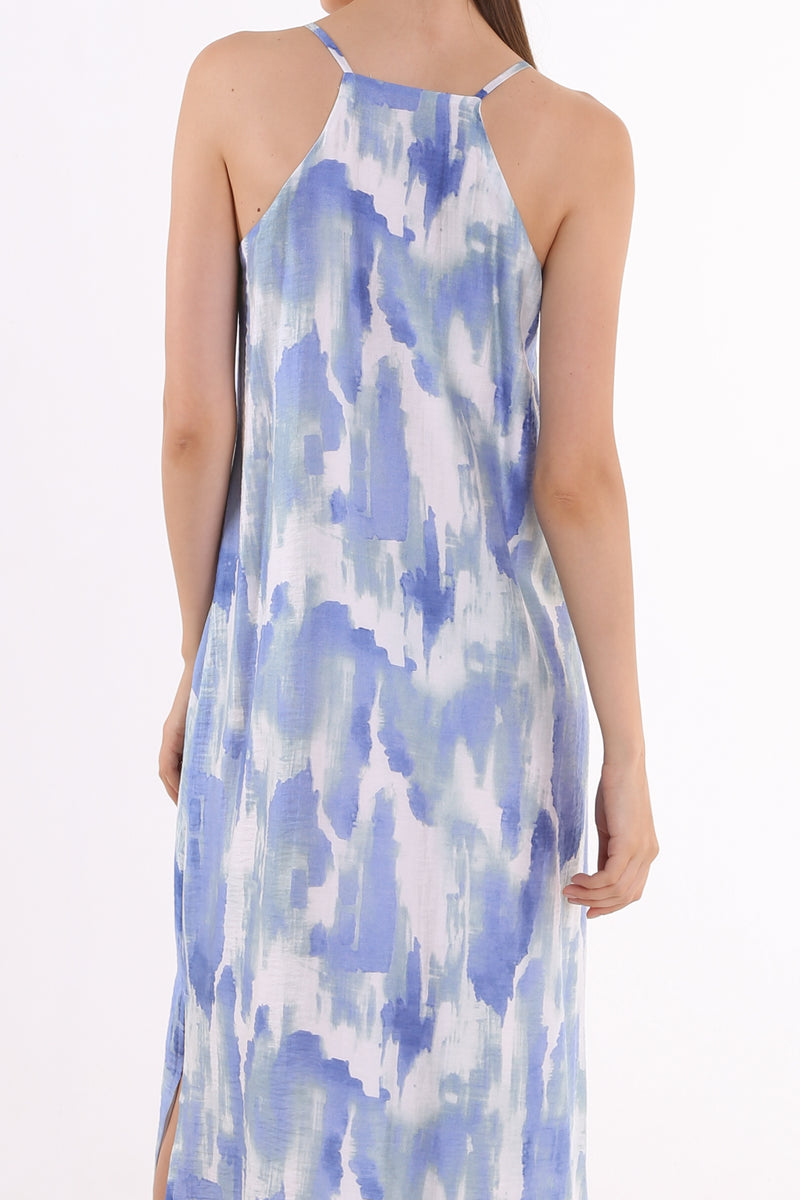 Sheron Printed Maxi Slip Dress