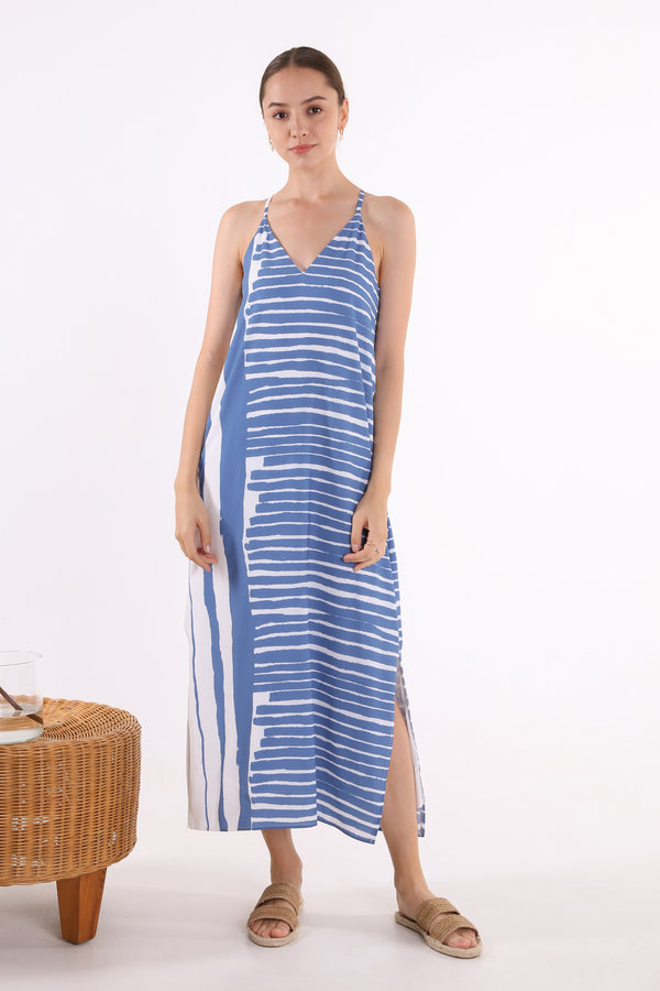 Yunn Printed Maxi Slip Dress