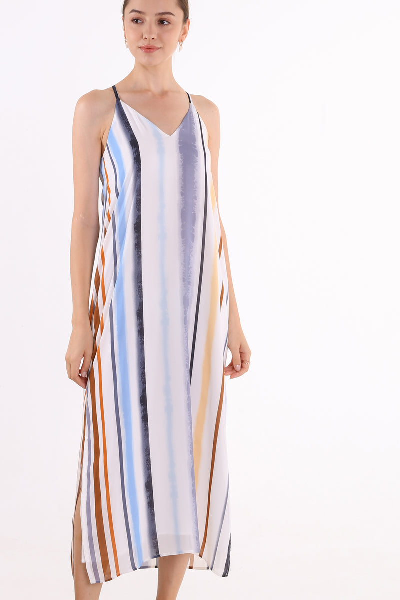 Alice Printed Maxi Slip Dress