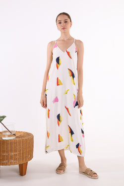 Nicole Printed Maxi Slip Dress