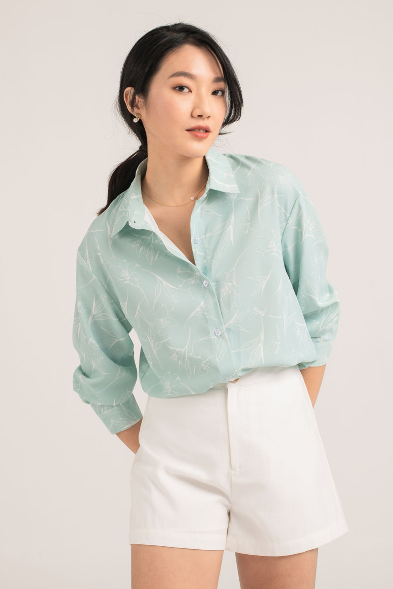 Emmy Printed Button Up Shirt