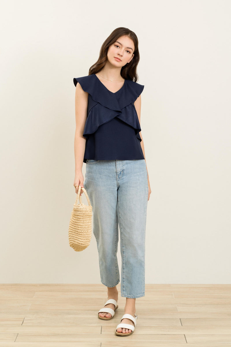 Denna Overlay Flutter Top In Blue