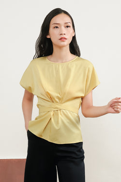 Louisa Sleeve Top in Yellow