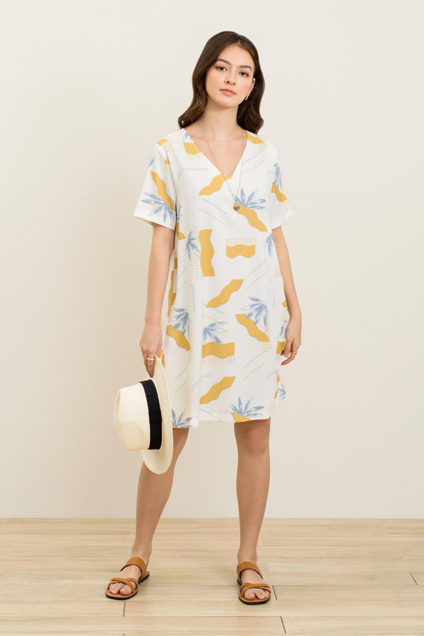 Venice Printed Shift Dress