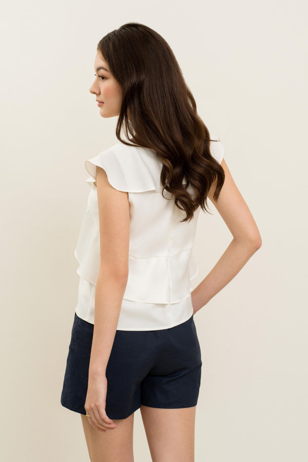 Denna Overlay Flutter Top In White