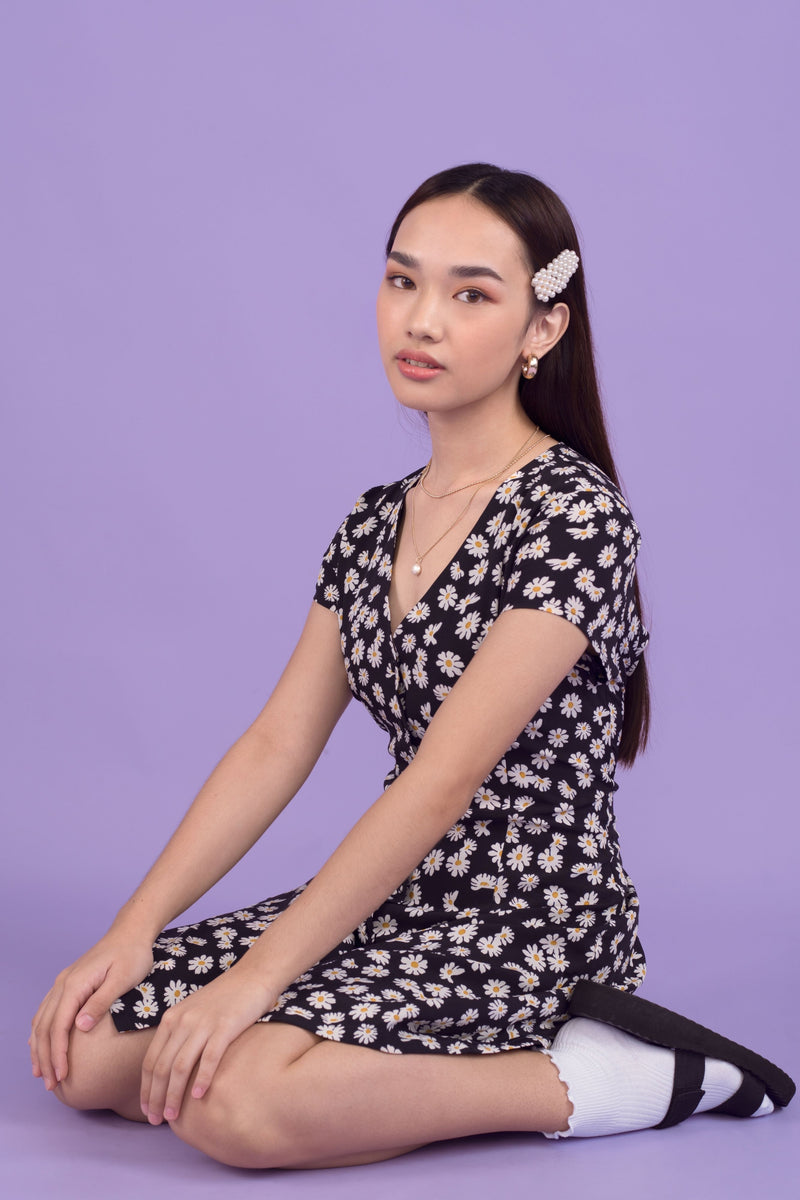 [PRE ORDER] Coco Daisy Lace Back Printed Dress