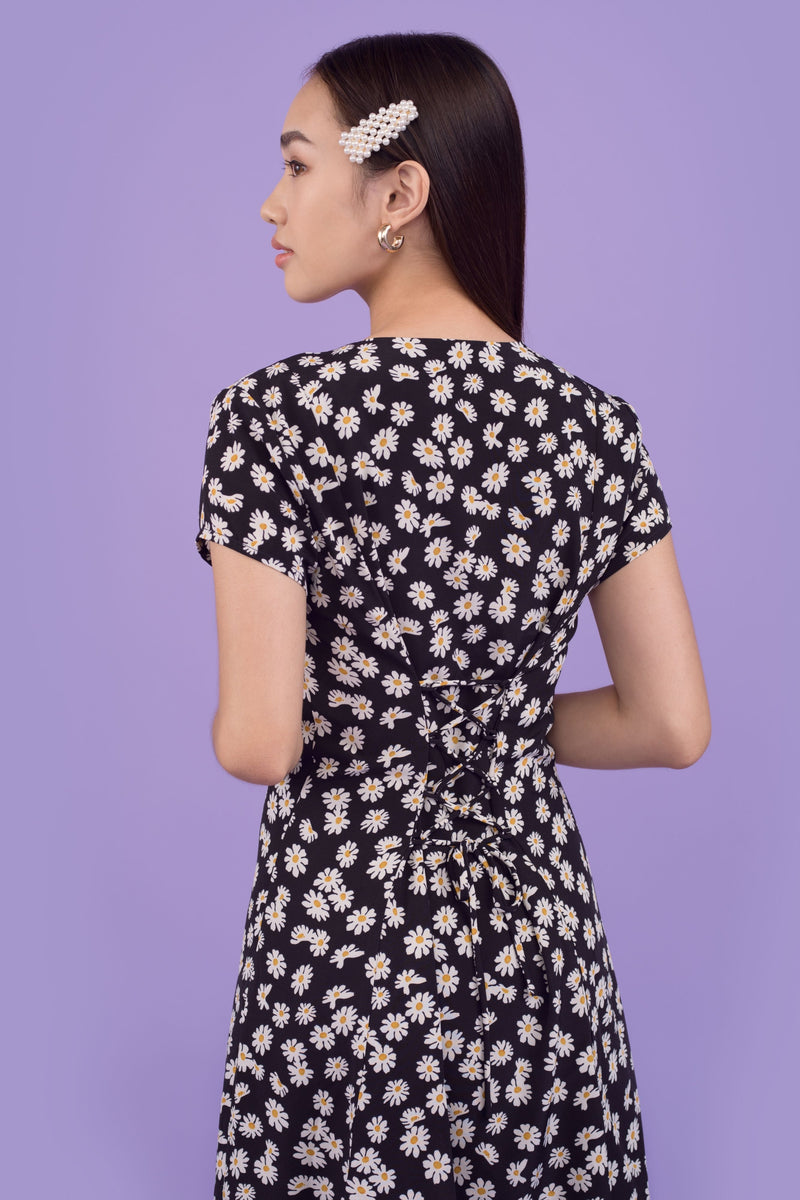 Coco Daisy Lace Back Printed Dress