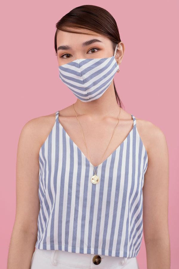 Delia Striped Reusable Face Mask