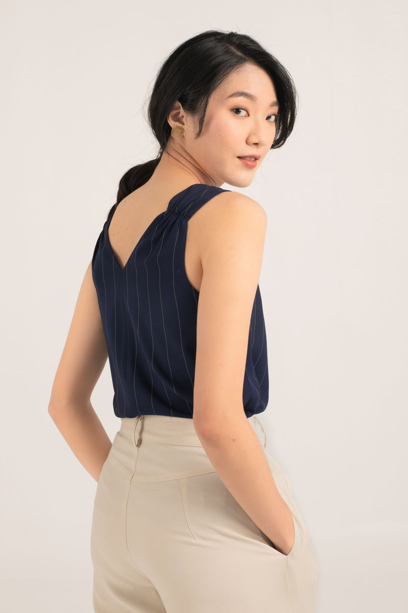 Ophelia Sleeveless Top in Blue