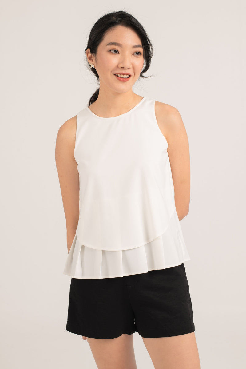 Desi Sleeveless Top in White