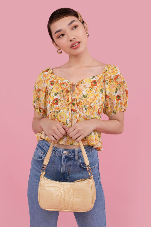 Eliza Printed Crop Top